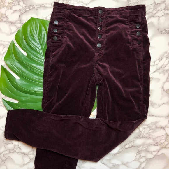 7eac72d0ee9a7 J Brand Denim - J Brand Natasha Sky High Purple Velvet Pants